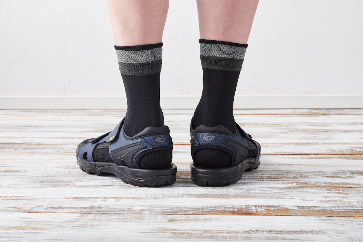 There's no shame in rocking socks with cycling sandals.