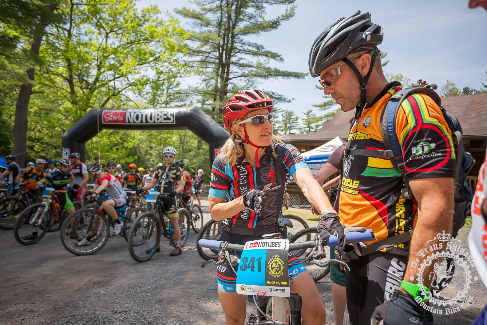 Cheryl Sornson (Rare Disease Cycling) at the start line of the three-day version of the NoTubes Trans-Sylvania Epic. Photo by the Trans-Sylvania Epic Media Team