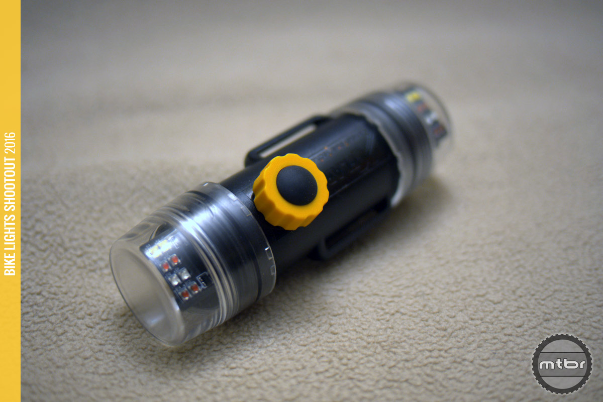 The CandlePower Tech XFlare is a 750 Lumen white light with 1200 Lumens of flashing colored outputs.