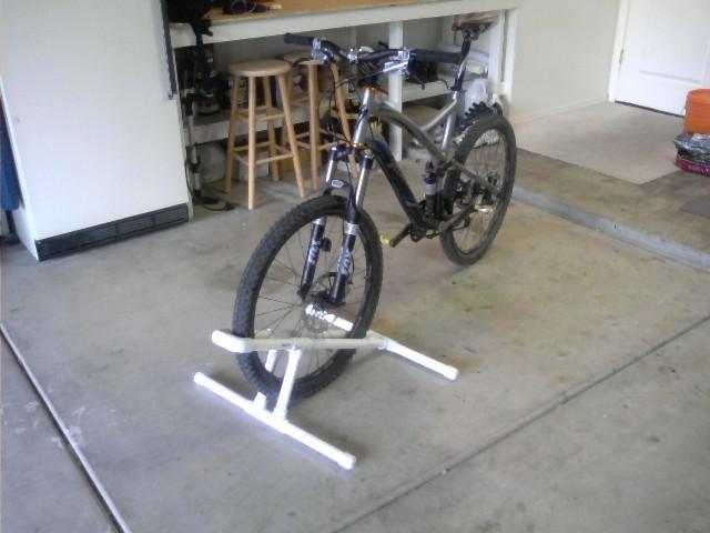The Home Made Pvc Bike Stand Thread Mtbr Com