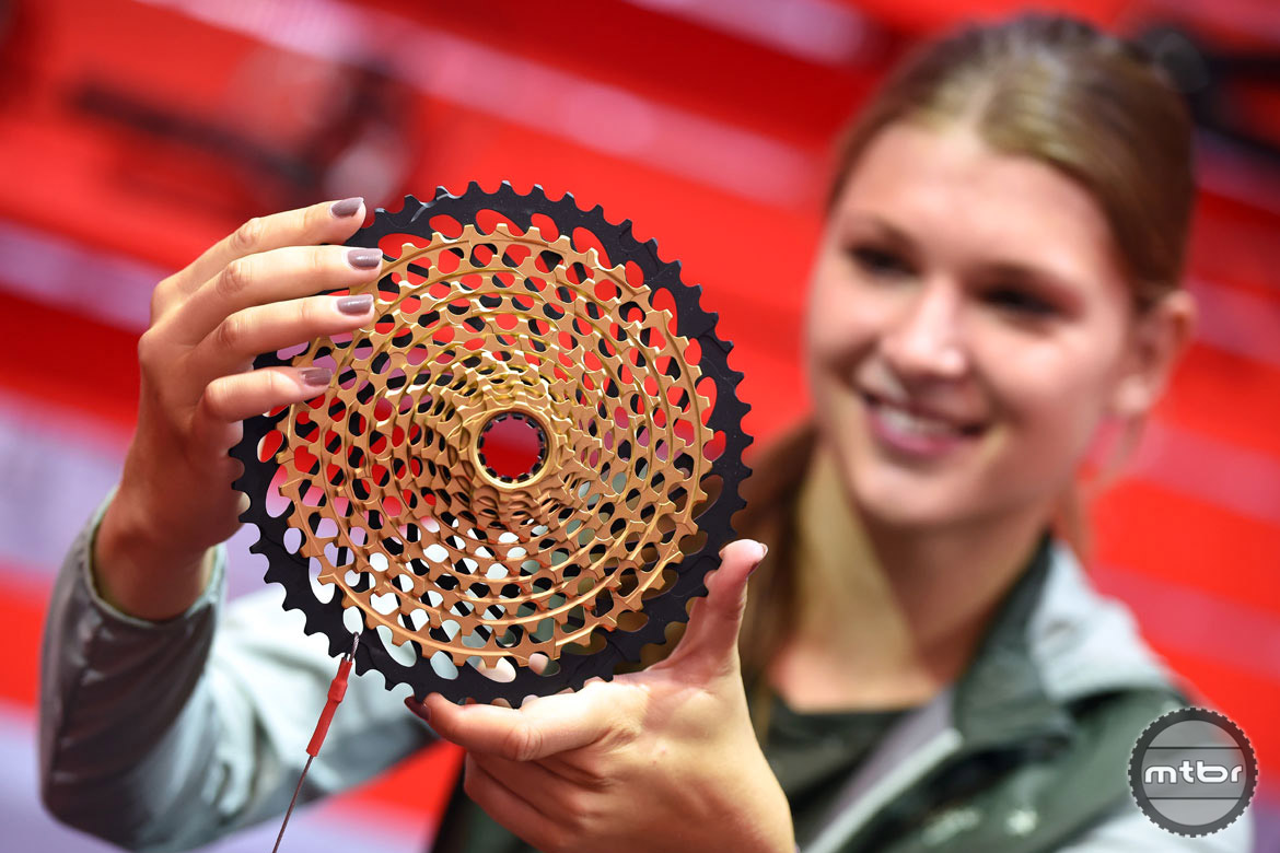 The (SRAM) Eagle was flying all over Eurobike, always looking large and in charge. Photo courtesy Eurobike