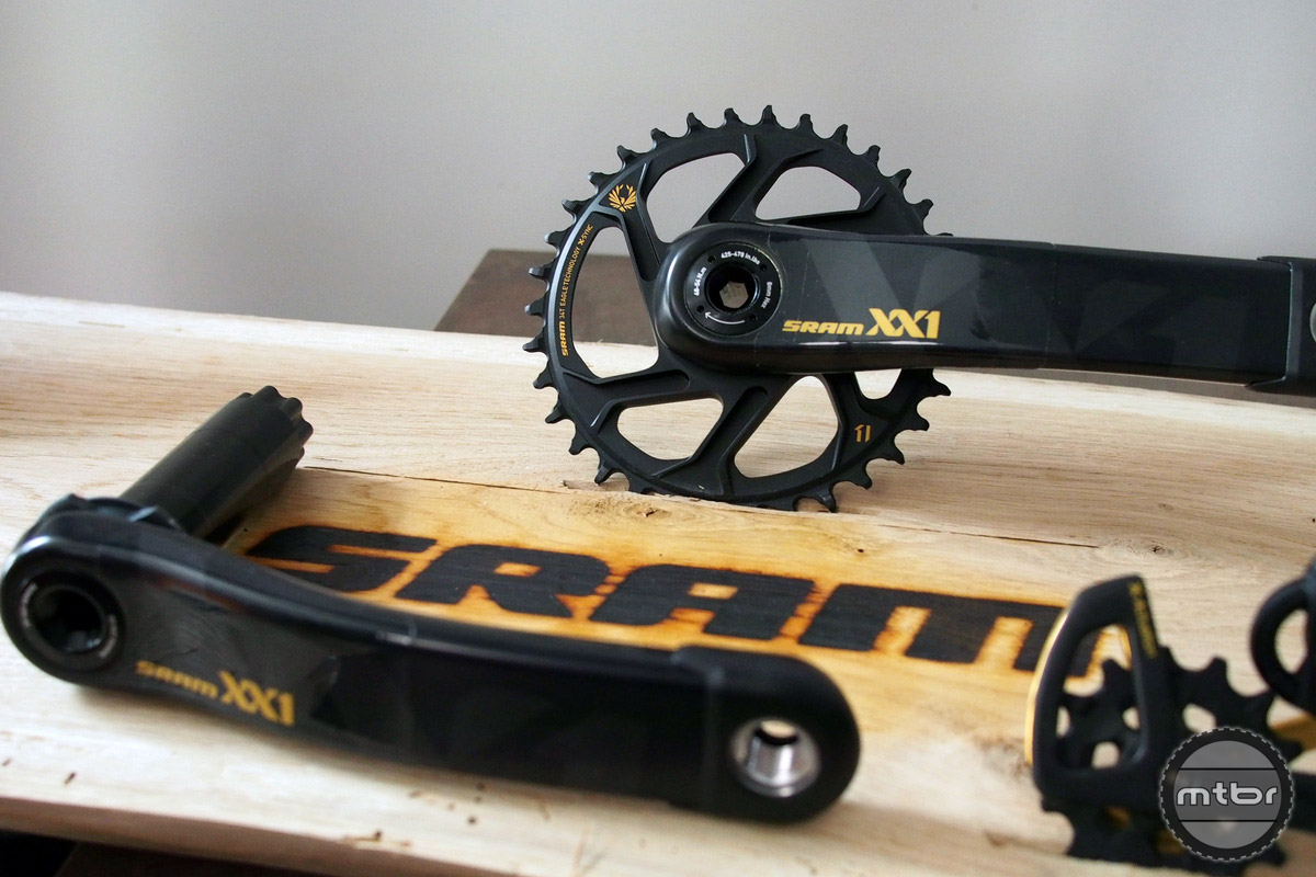 XX1 crank uses a stiff, direct drive chainring interface.