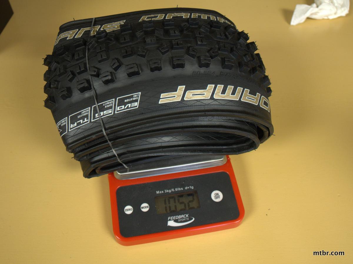 Schwalbe Hans Dampf Super Gravity Tires 650b weight