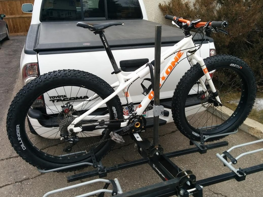 Hitch Rack For 5 Quot Fat Bike Tires Mtbr Com