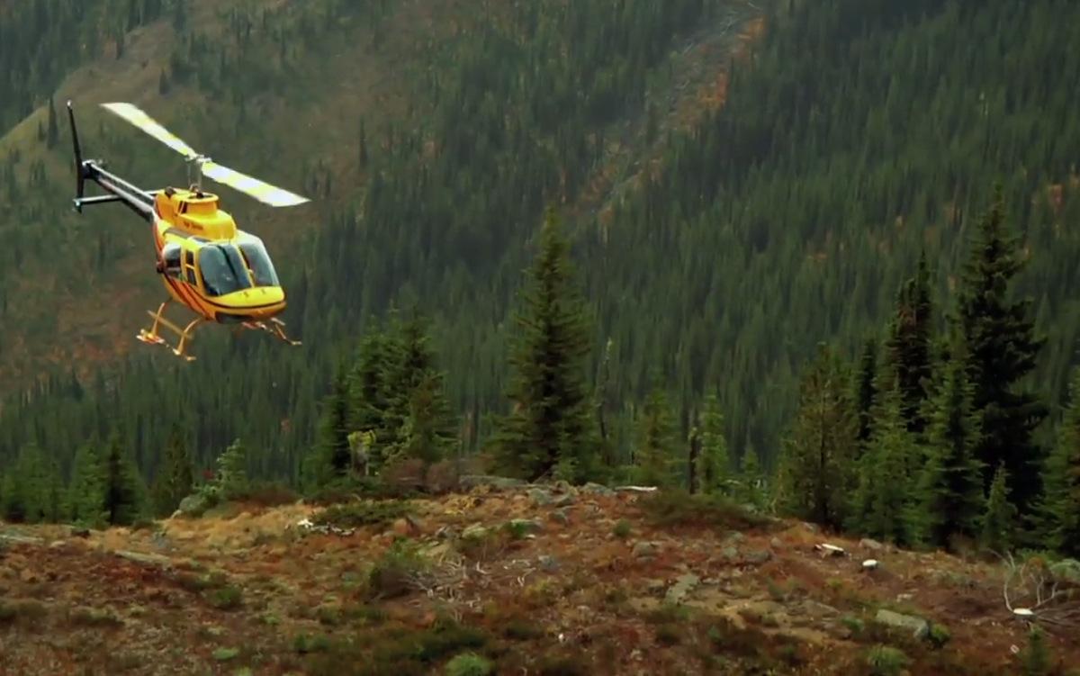 Kirt Voreis rides Retallack, BC heli drop