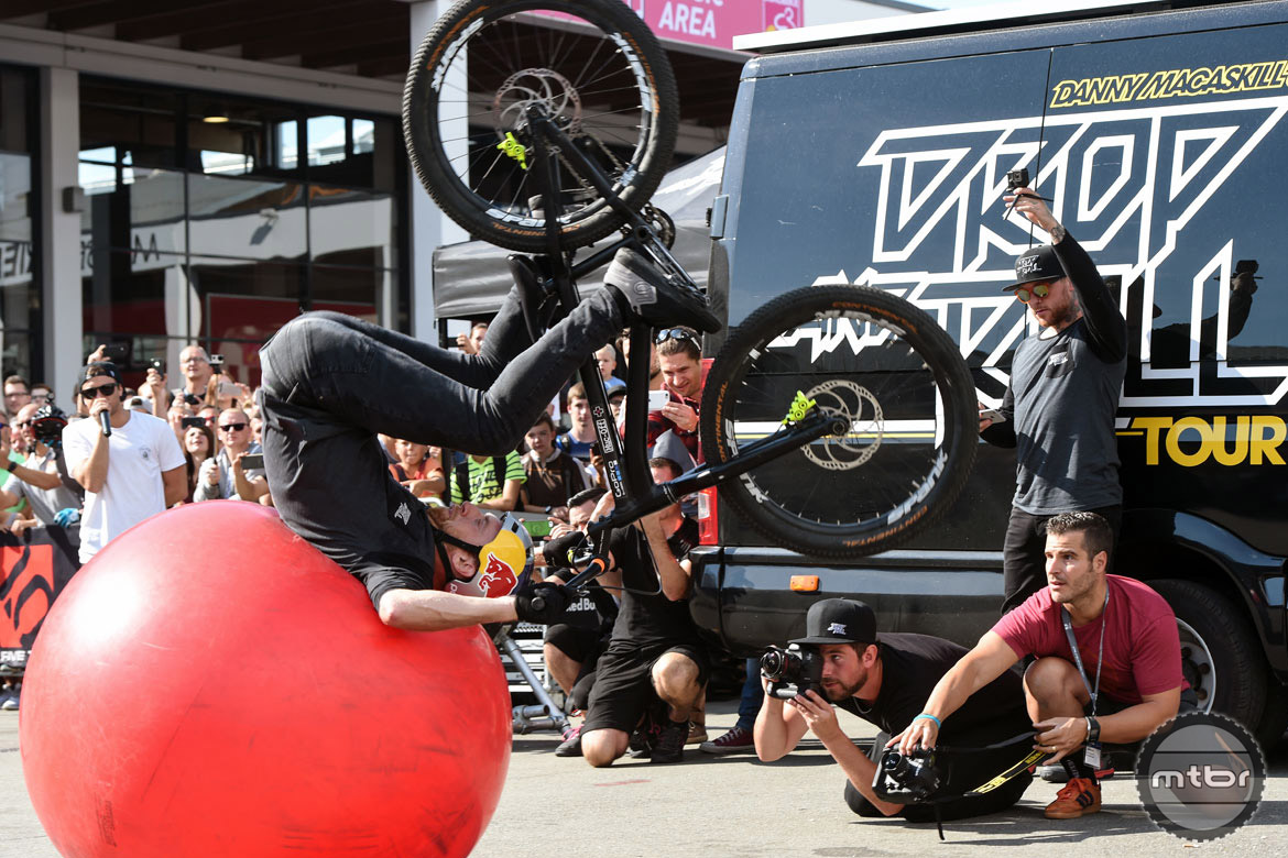 Danny being Danny. Who says fit balls aren't fun. Photo courtesy Eurobike