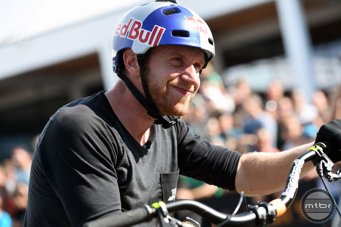 Another big name on hand was trials and YouTube superstar Danny MacAskill. Photo courtesy Eurobike