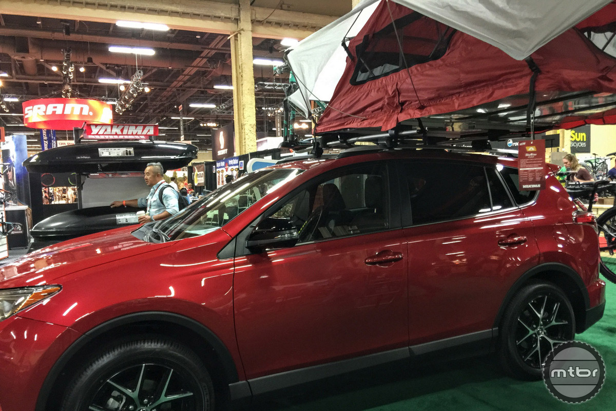 A Toyota Rav4 is the sample vehicle used. Yakima believes in modular size where a smaller, expandable vehicle is used to fit life's adventures instead of a massive SUV for everyday use.