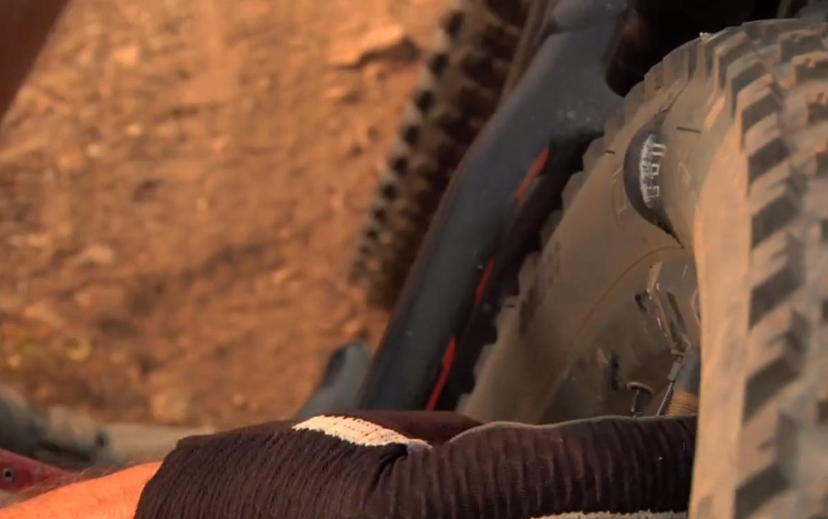 Kirt Voreis rides Retallack, BC ripped tire