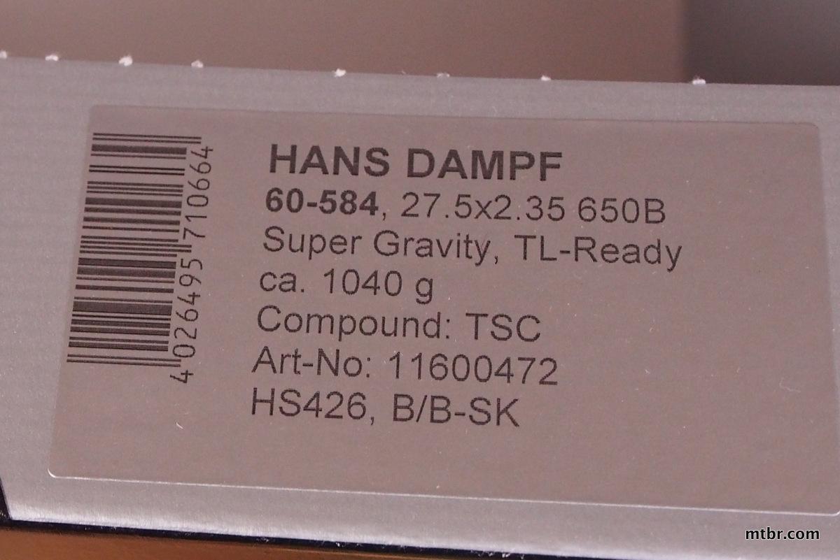 Schwalbe Hans Dampf Super Gravity Tires 650b specs