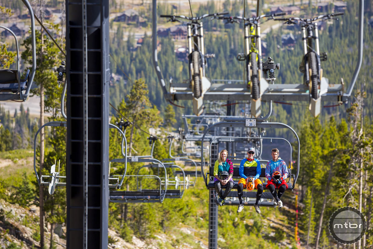 During peak season, the Trestle Bike Park runs three lifts. The longest trail is the 5.5-mile Green World.