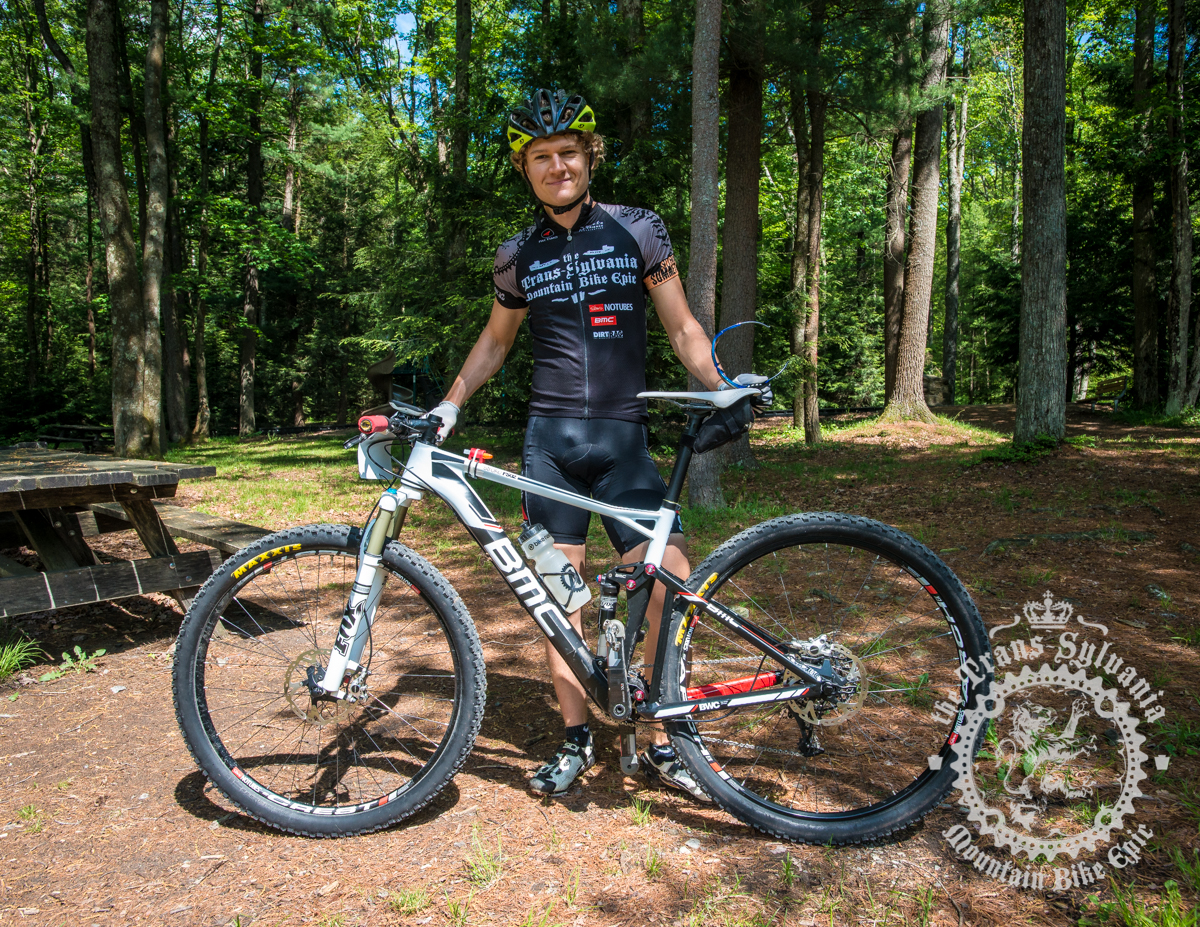 Aaron Albright and his BMC Fourstroke FS02 29er. Photo by  the Trans-Sylvania Epic Media Team