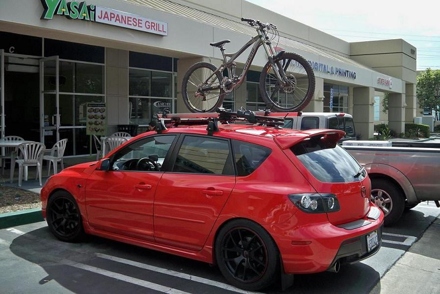 Mazdaspeed3 Yakima High Roller Installed Mtbr Com
