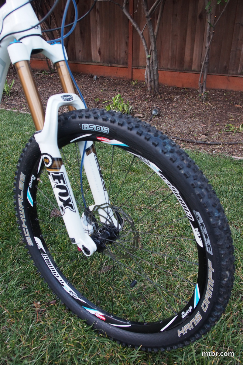 Schwalbe Hans Dampf Super Gravity Tires 650b front with 160mm Fox fork