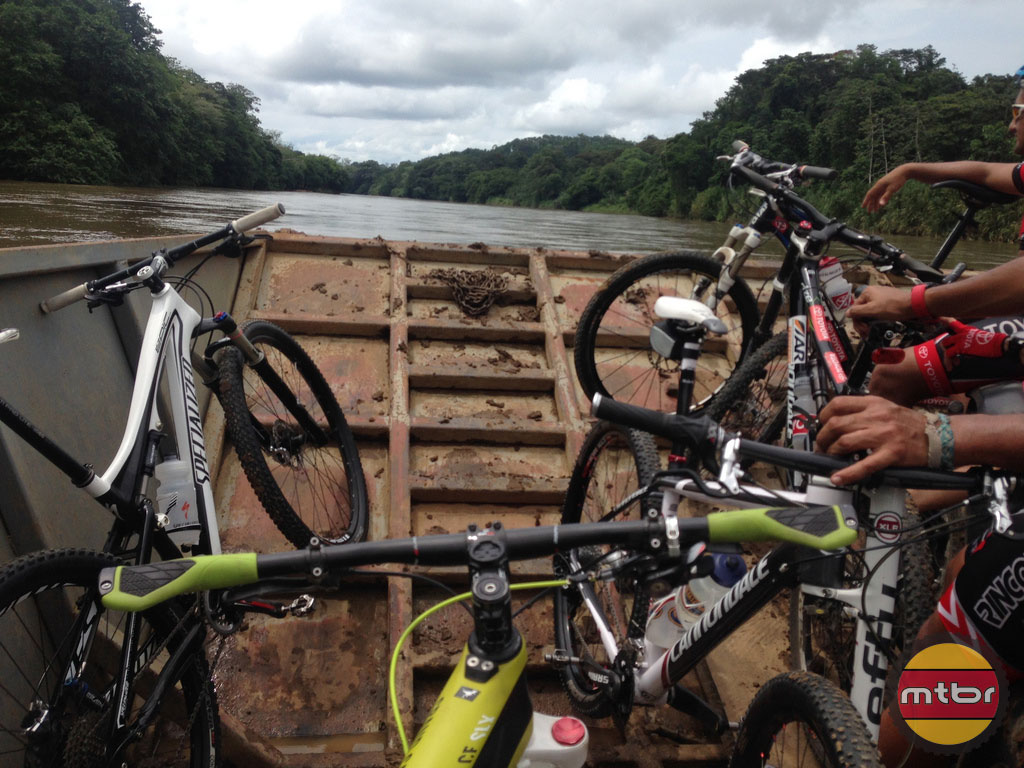 Bikes on a Jungle River
