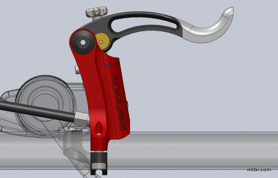 Brake Force One Brakes Lever diagram