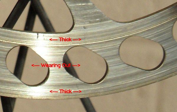 Worn Brakes - Rotor