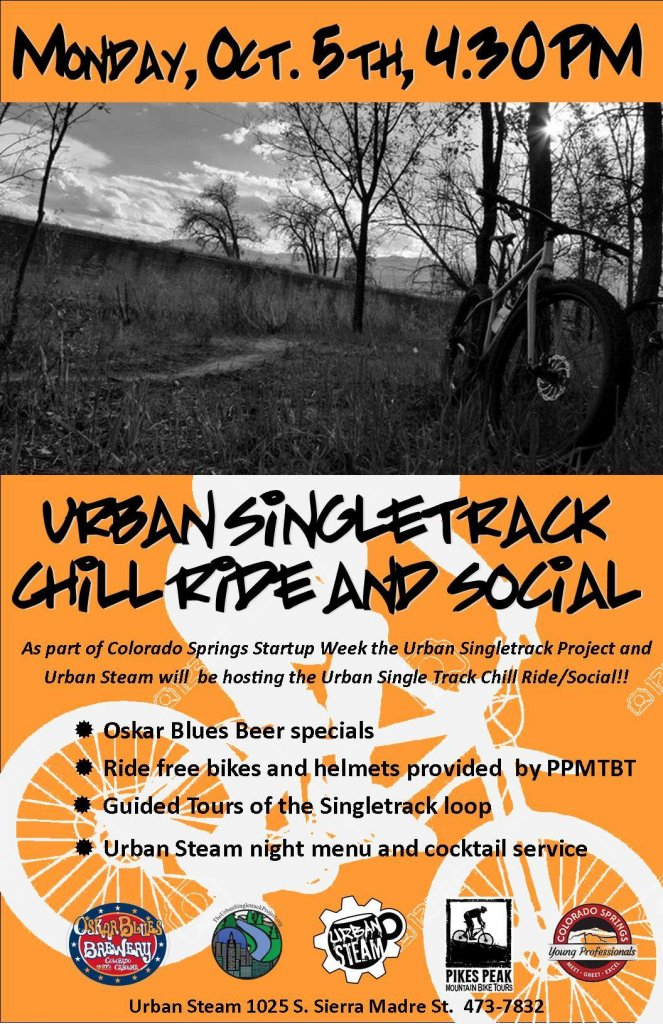 Mon. Oct 5th: Urban Singletrack Project Social/Demo Rides/Party @ Urban Steam-11063716_899119910163769_4078491700535251549_o.jpg