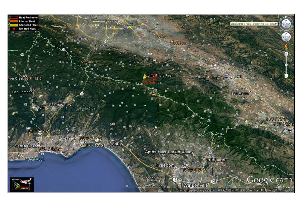 Santa Cruz Mountain Fire Map.Santa Cruz Mountains Loma Fire Mtbr Com