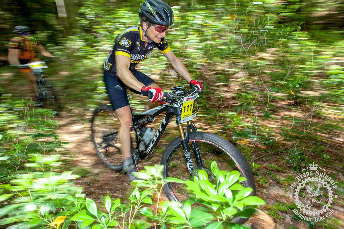 Kaarin Tae (Bike Monkey Racing) is riding a Scott Spark. Photo by  the Trans-Sylvania Epic Media Team
