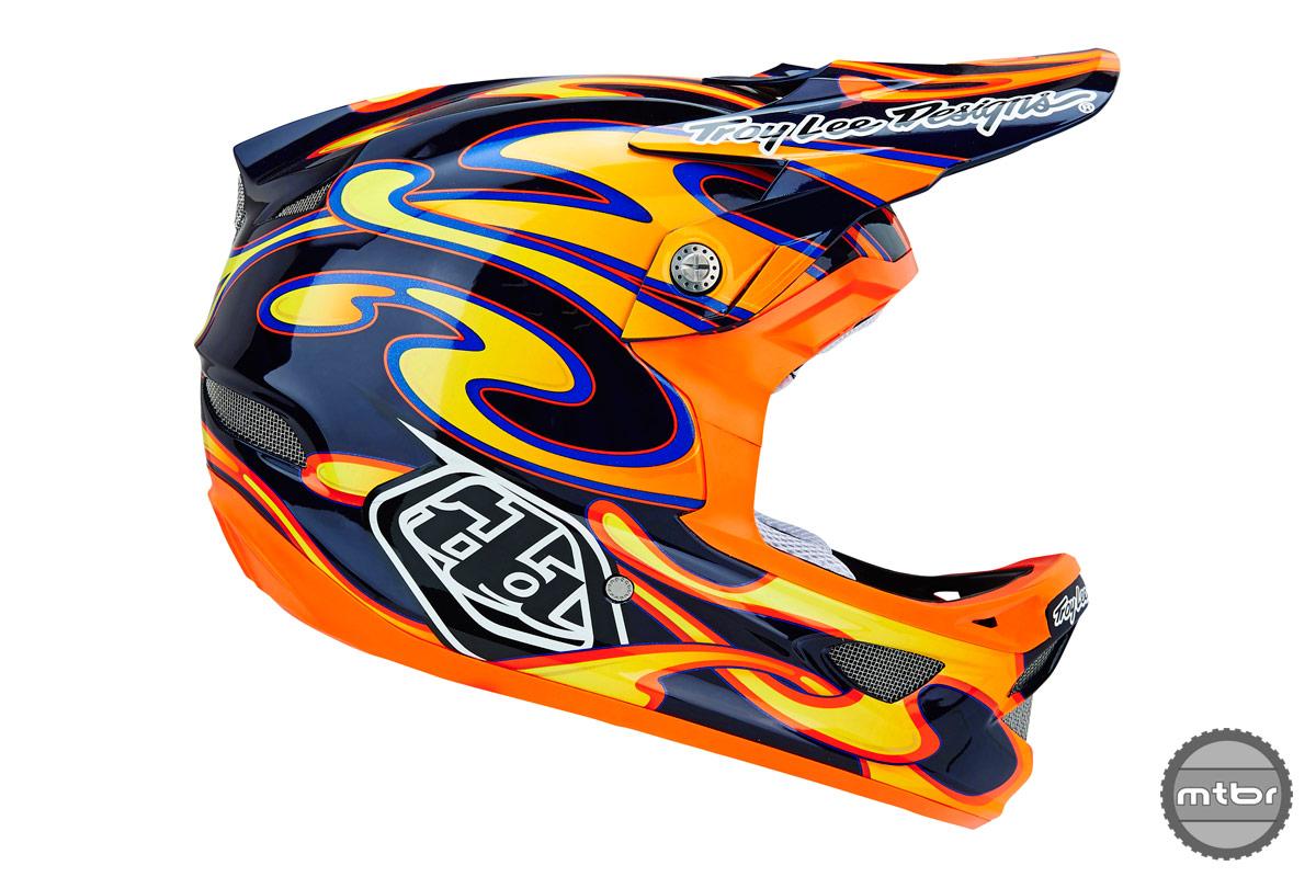 Troy Lee Designs D3 CF Squirt Black Orange