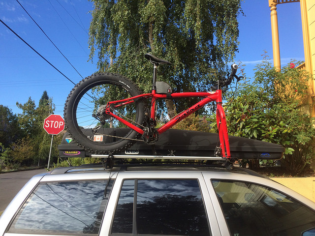 Fat Bike On A Fork Mount Roof Rack Mtbr Com