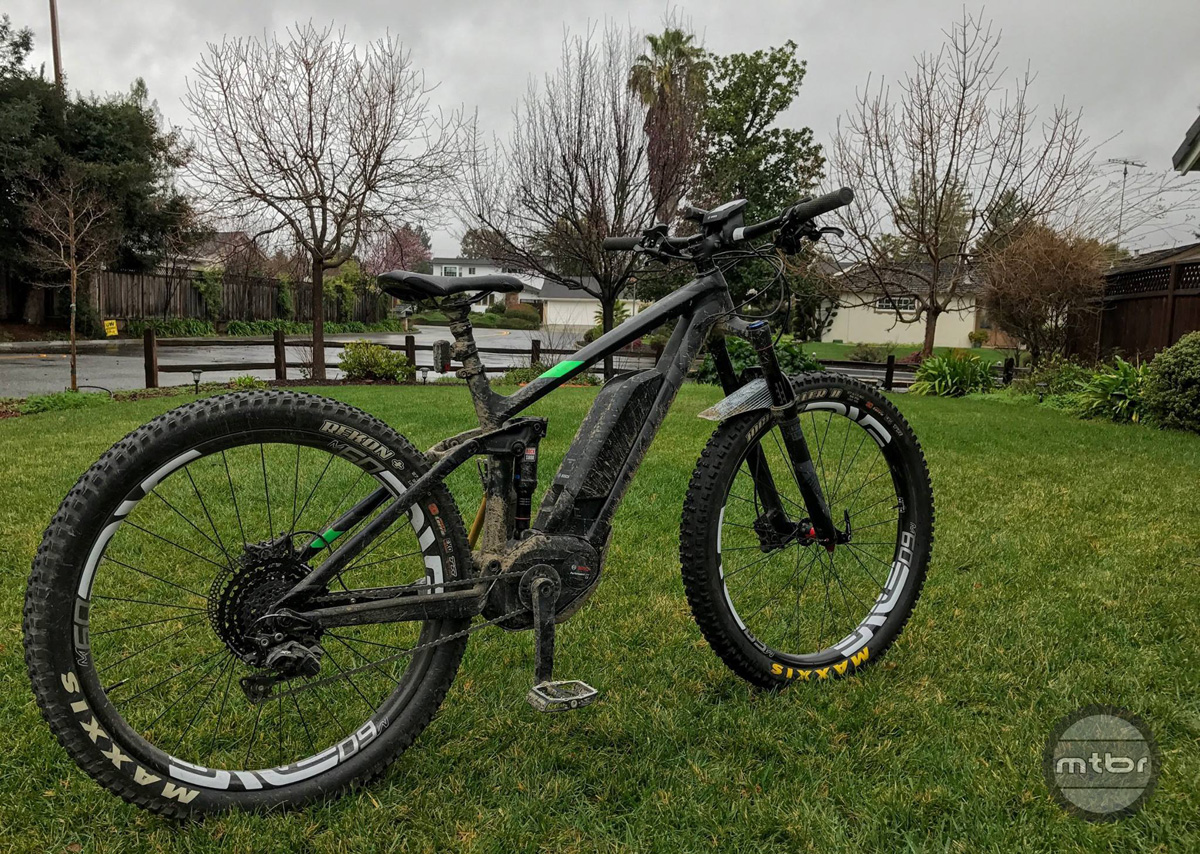 We upgraded our Trek Powerfly 8 with Maxxis Minion HighRoller II tires and Enve wheels.