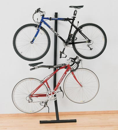 multiple bike rack inside the house. Black Bedroom Furniture Sets. Home Design Ideas