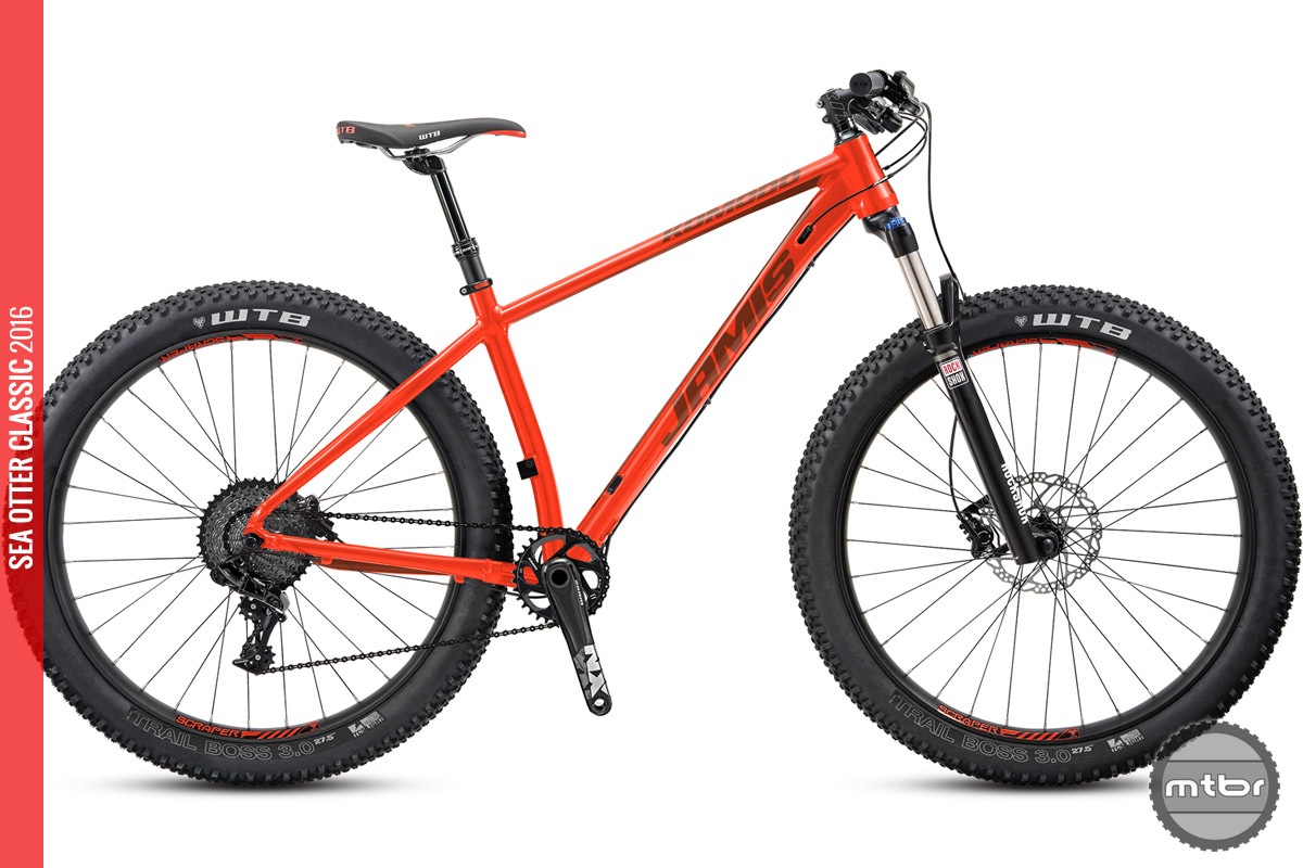 Features of the new Komodo include boost hub spacing, trail geometry, and a  host of eyelets and mounts to load up for bike packing.