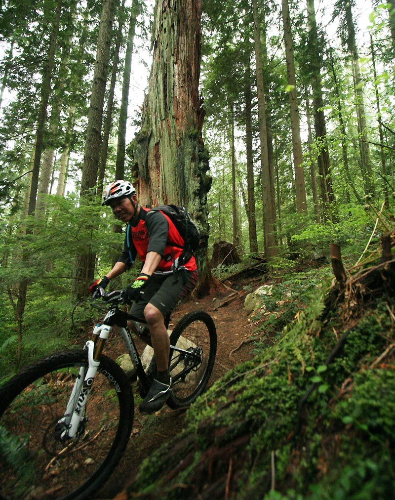 Fromme, BC - an artifact of the lens makes the wheel look huge!
