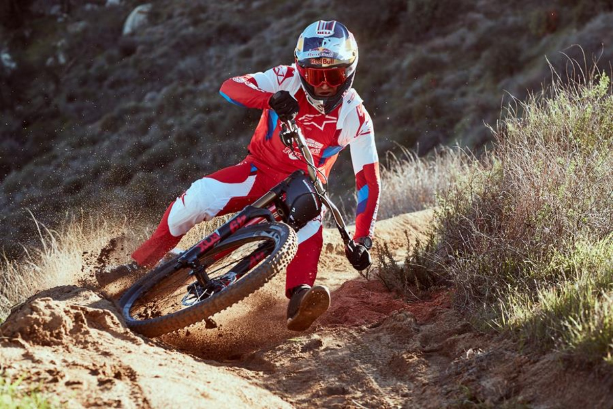 Aaron Gwin and Intense Factory Racing rolling Kenda tires