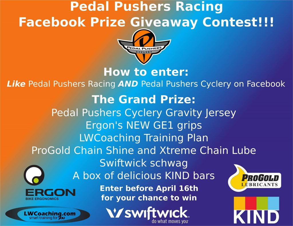 Pedal Pushers Racing Facebook Prize Giveaway Contest!-1921080_287608888059253_2103643262_o.jpg