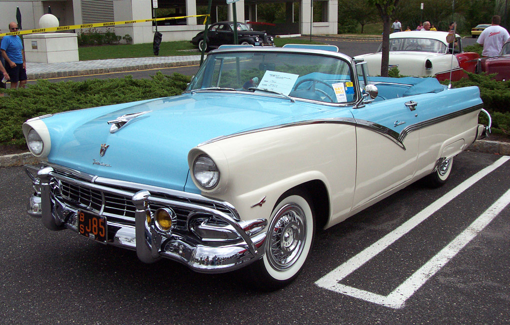 """Your Favorite Car Of Your Birth Year""-1956-ford-fairlane-convertible-blue-white-le.jpg"