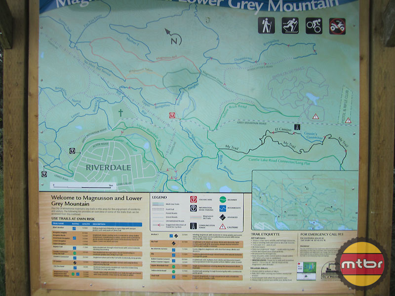 Well Signed Trail System Maps