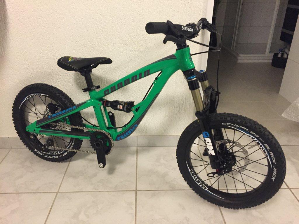 """Propain bikes -> Frechdax 16""""/20"""" full suspension for kids-1_green.jpg"""