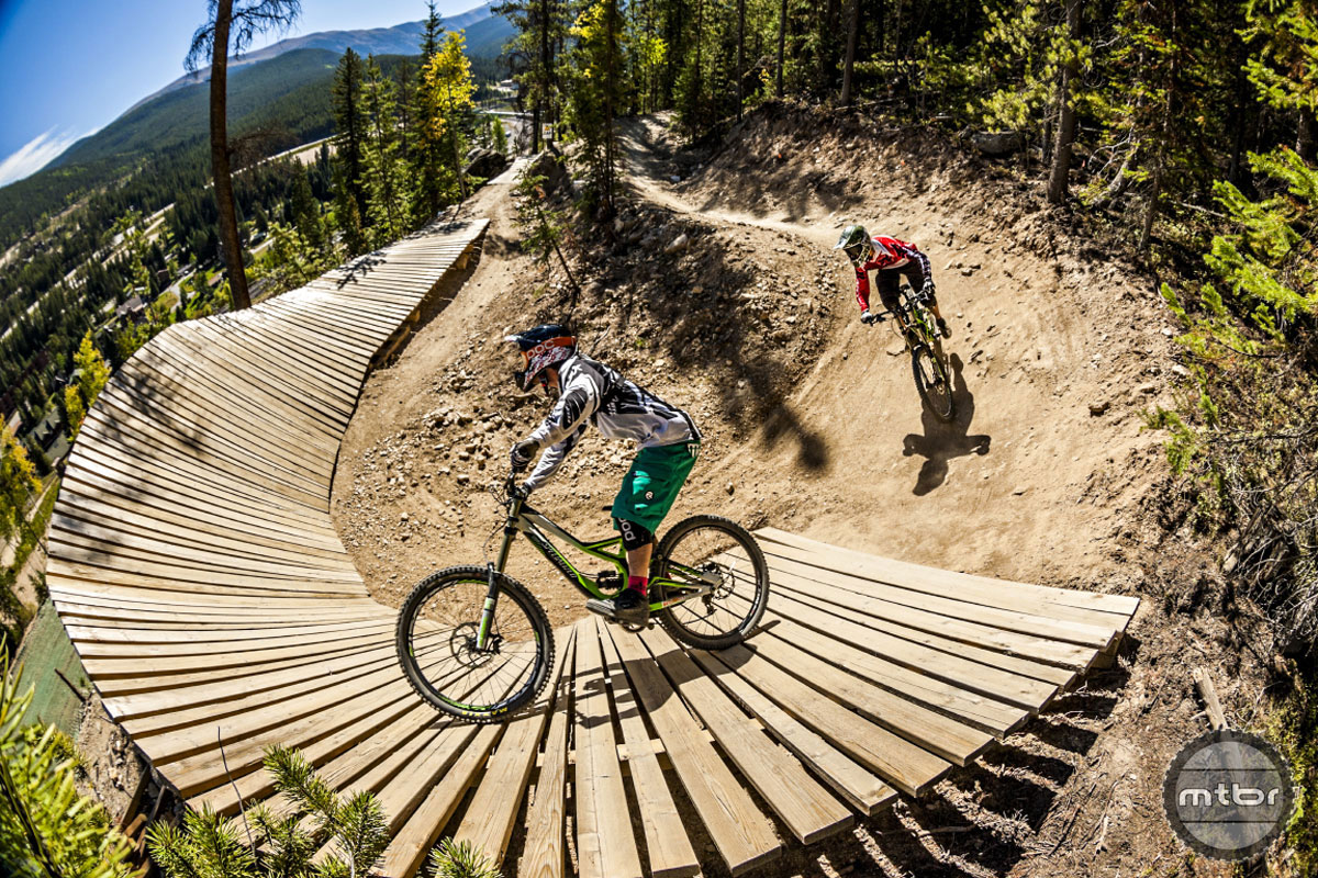 Winter Park Resort's Trestle Bike Park is arguably the area's most well-known riding destination, serving up over 40 miles of lift-serviced trails ranging from beginner level cross-country singletrack to gnarly double black diamond slopestyle terrain. The park is longtime host of the Colorado Freeride Festival and hosted a stop of the Enduro World Series in 2013 and 2014.
