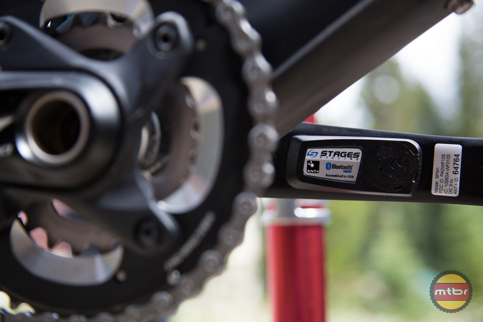 Stages Power Meter on Bike