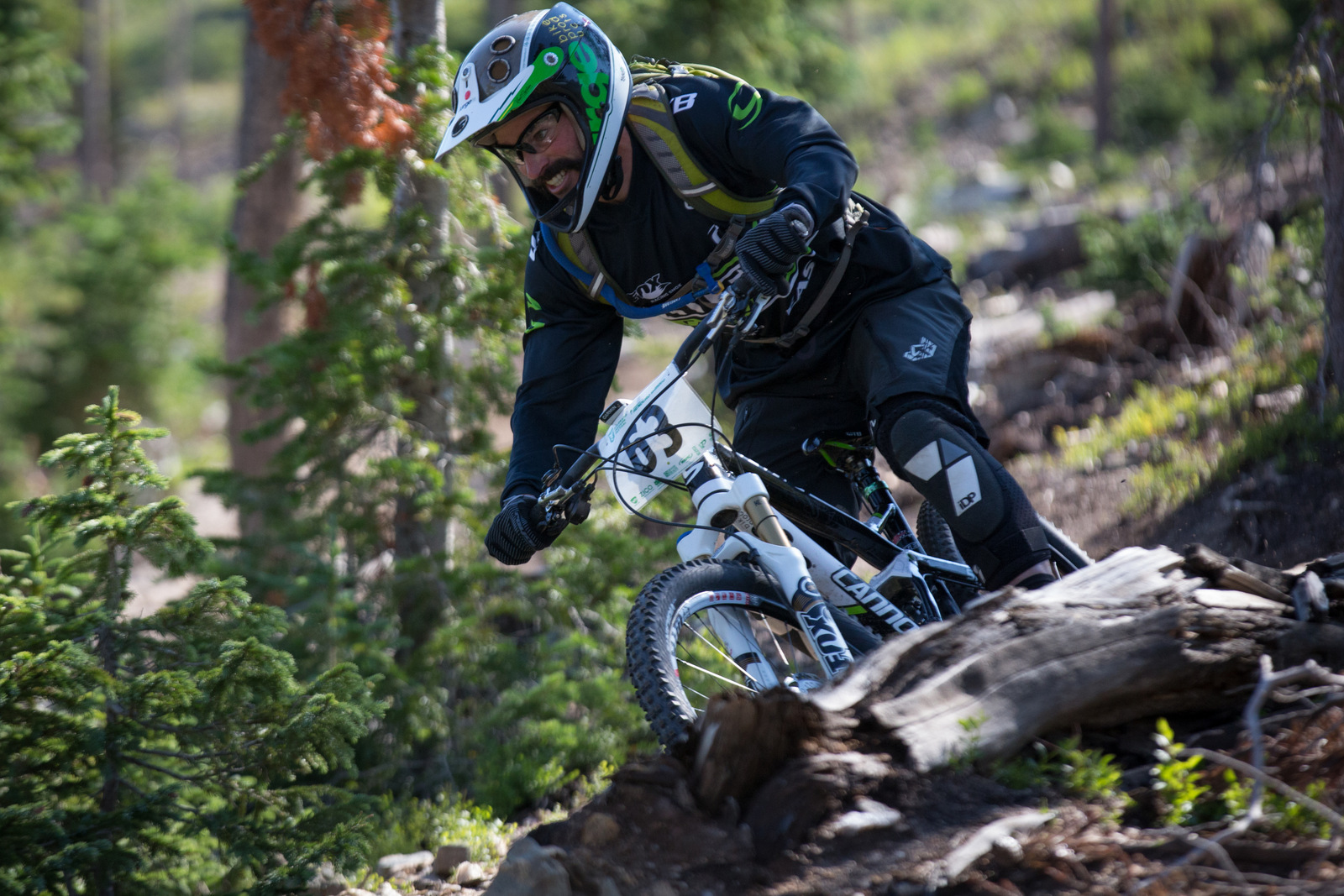 Mark Weir in Stage 1 of Winter Park Enduro World Series Race