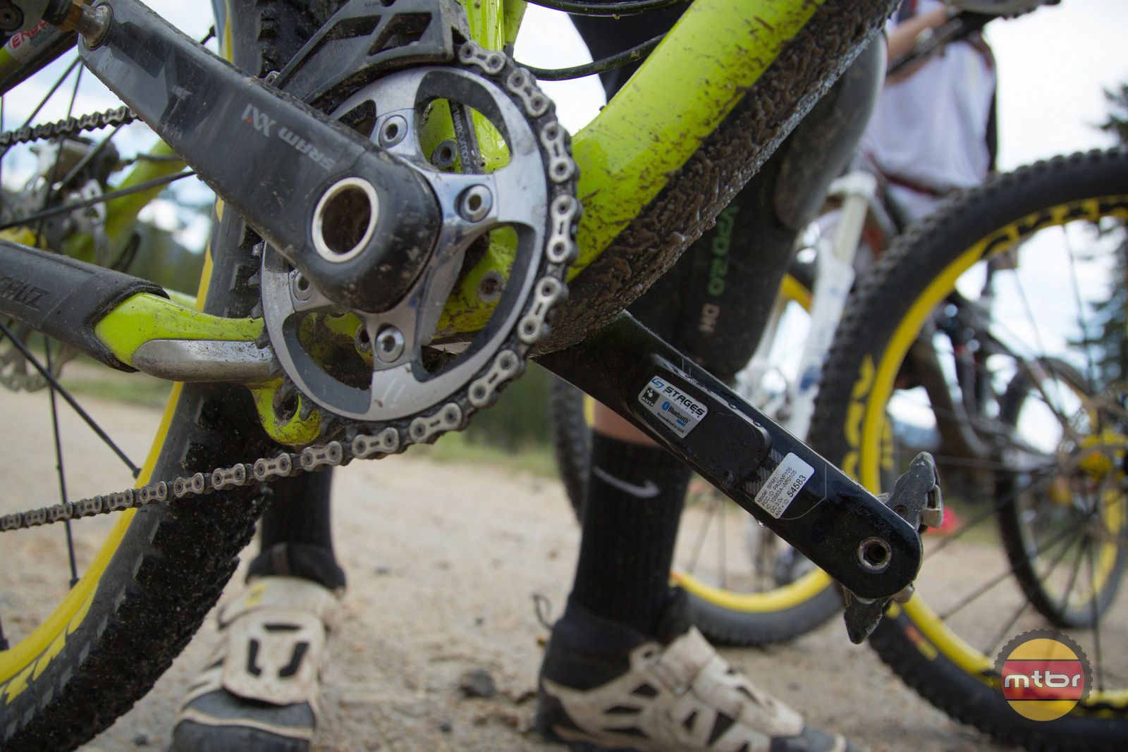 Stages Power Meter on Santa Cruz Bronson