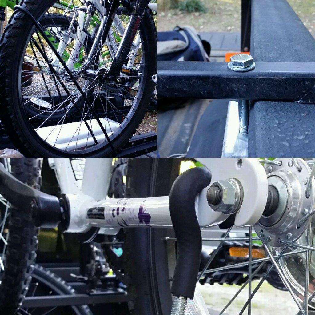 how to build a bike rack for your truck