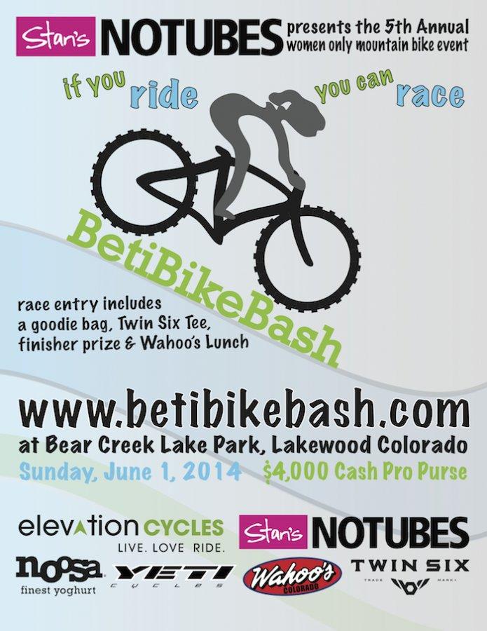 5th Annual Beti Bike Bash, June 1, 2014 in Lakewood, Colorado-2014betibikebashposter.jpg