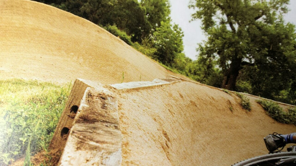 Anyone using railroad ties or retaining walls for pump track berms ...