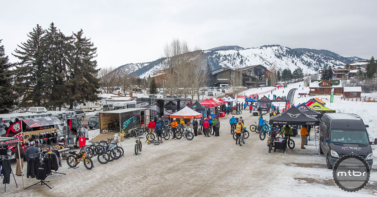 The Snow King Resort hosted both the indoor session and demo events. A groomed short track was available for head-to-head comparisons and the nearby Cache Creek trail system offered a tasty sample of purpose built snow singletrack.
