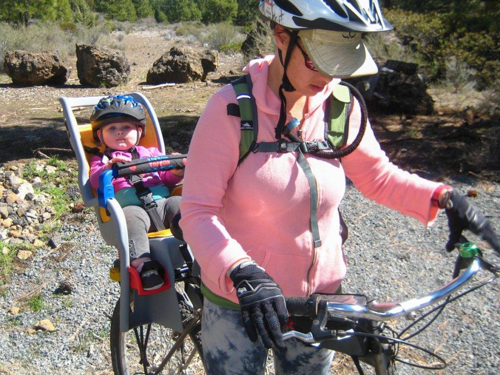Baby chair on bike - Child Seat On A Mountain Bike 20150329 Commuter Kit 005_w