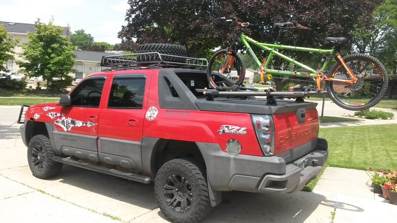 Great Custom Tandem Roof Rack: Carries The Tandem With The Wheels  On! 20150711_132130_zpspqlttiuf.