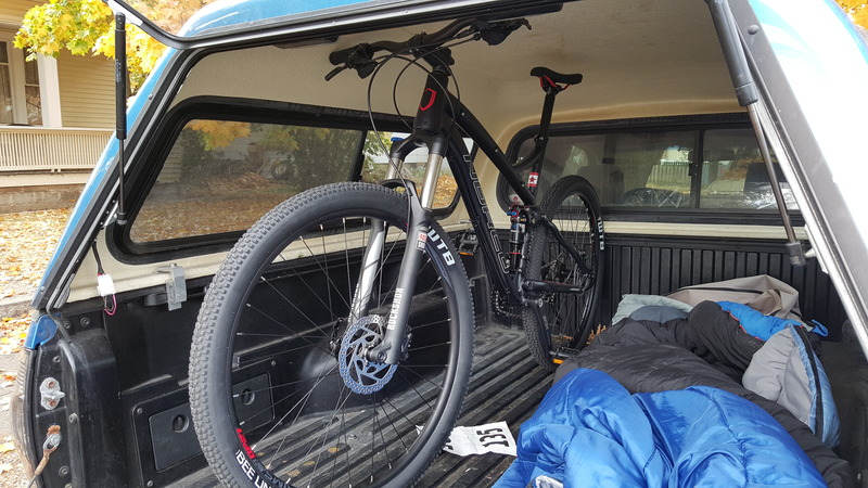 Bikes in truck bed with topper- Mtbr.com