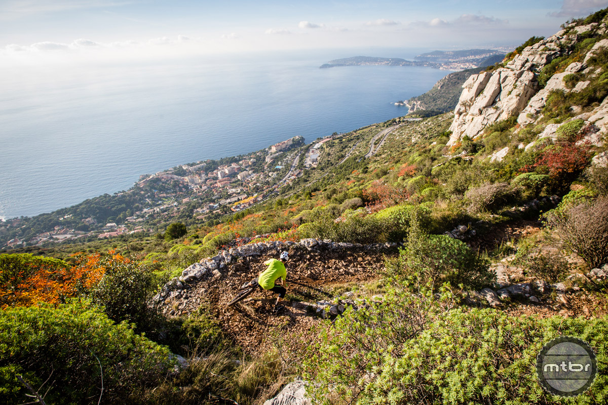 The Maritime Alps in Italy are home to some of the most technical trails in the world and is one of the birthplaces of the Enduro race format. Photo by Matt Wragg