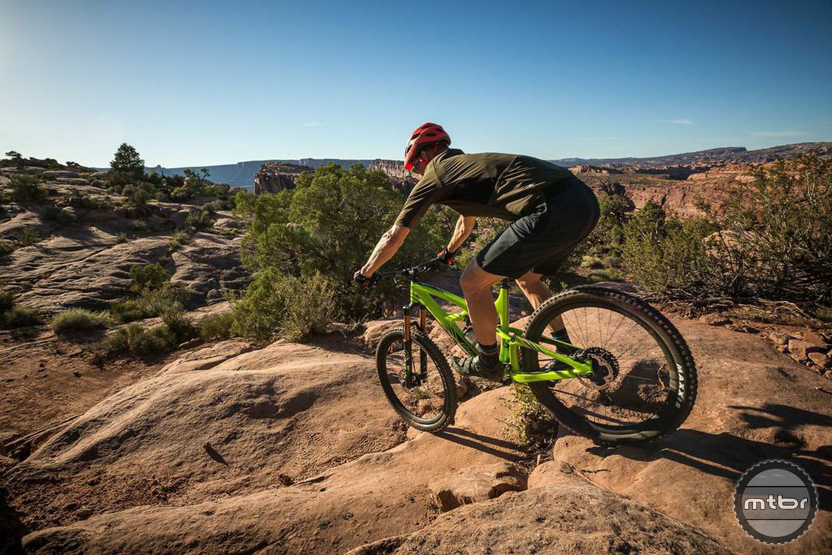 The new Ibis Mojo HD3 in the wild, Moab, Utah.