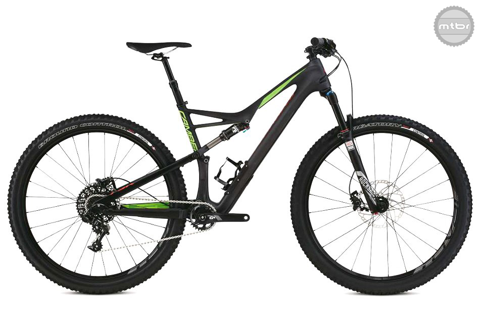 The  Camber Comp Carbon  sports a carbon frame front end and SRAM 1x11 GX components