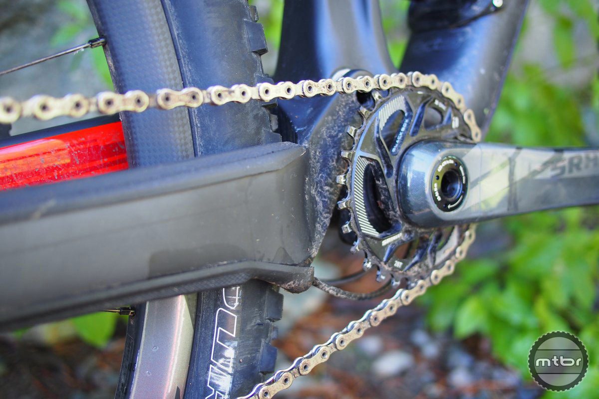 Like the Epic, the Camber now supports a massive chainstay for stiffness.